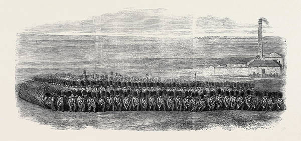 Brigade Drawing - Square Of The First Battalion Of Grenadier Guards To Which by English School