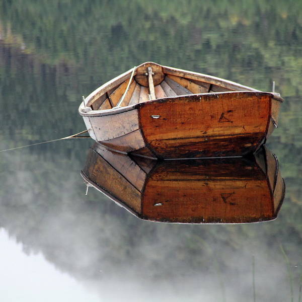 Rowboat Photograph - Square Rowboat by Erling Sivertsen