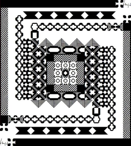 Square Spiral Galaxy Signed Art Print