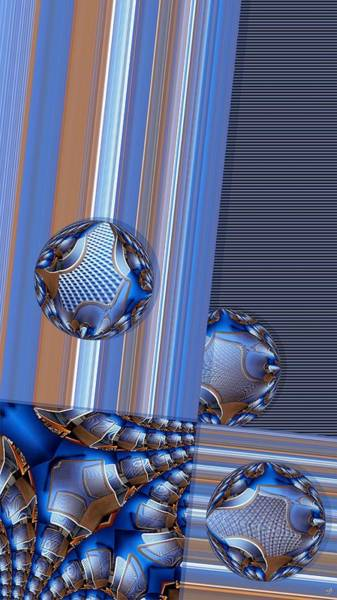 Distortions Digital Art - Square With Circles by Ron Bissett