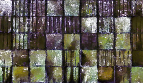 Dark Olive Green Wall Art - Mixed Media - Squared Up 2 by Angelina Tamez