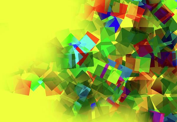 Square Digital Art - Squares Creative Abstract Design by Raj Kamal