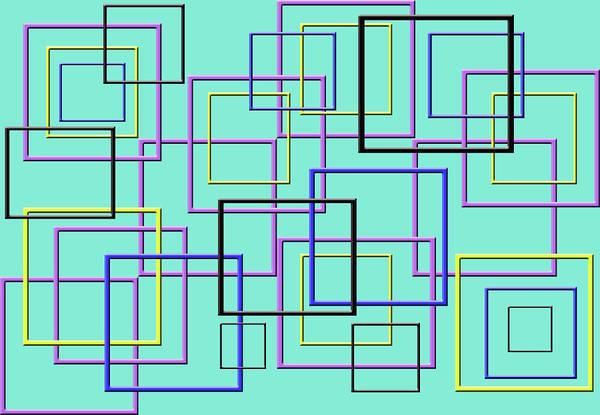 Square Digital Art - Squares Creative Design by Raj Kamal