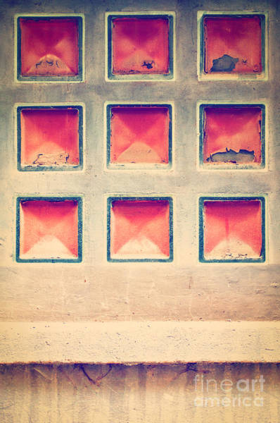 Photograph - Squares In Wall by Silvia Ganora