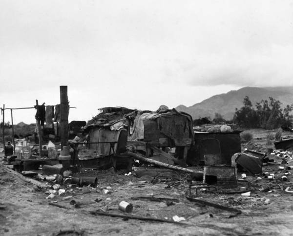Indio Photograph - Squatter Camp, 1935 by Granger