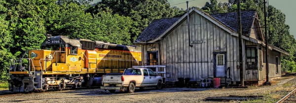 Photograph - Squaw Creek Southern Locomotive In Madison by Reid Callaway