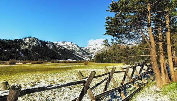 Wall Art - Photograph - Squaw Valley Fence by Nancy Marie Ricketts