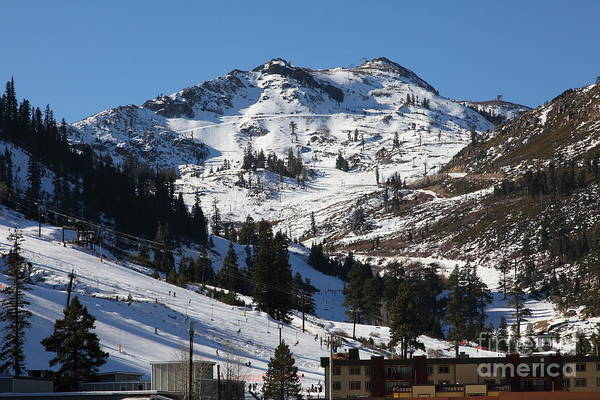 Photograph - Squaw Valley Usa Ski Slopes 5d27584 by Wingsdomain Art and Photography