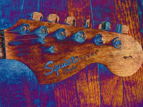 Strat Photograph - Squier Strat by Deena Stoddard