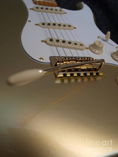 Photograph - Squier Stratocastor Guitar - 4 by Vivian Martin