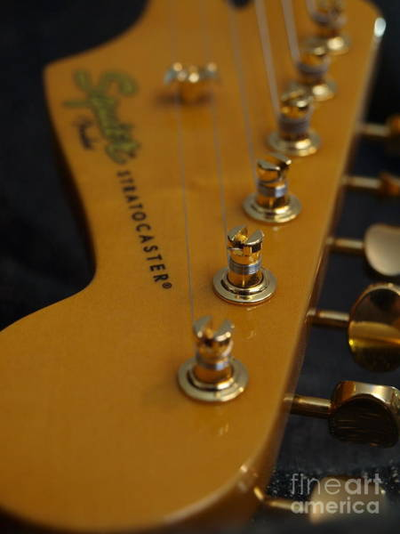 Photograph - Squier Stratocastor Guitar - 6 by Vivian Martin