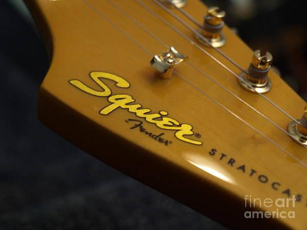 Photograph - Squier Stratocastor Guitar - 7 by Vivian Martin