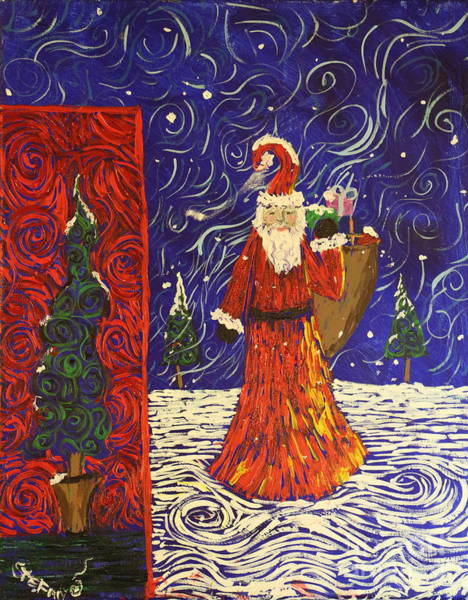 Painting - Squiggle Christmas by Stefan Duncan