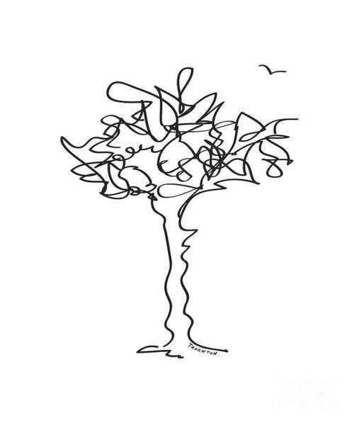 Drawing - Squiggle Tree 1 by Diane Thornton