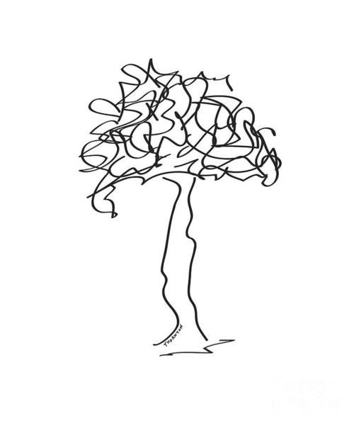 Drawing - Squiggle Tree 2 by Diane Thornton
