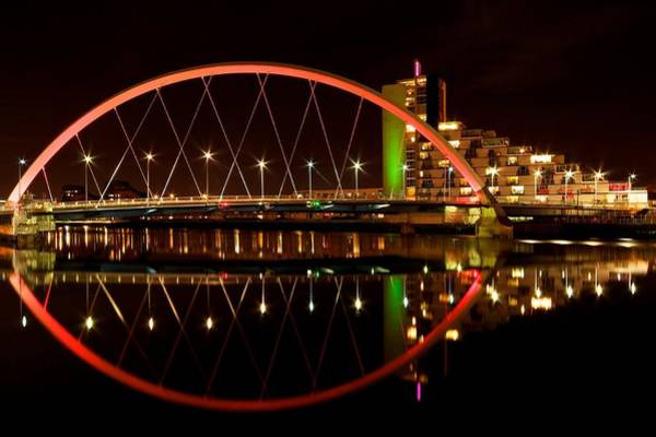 Photograph - Squinty Bridge At Night by Stephen Taylor