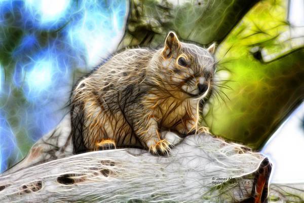 Digital Art - Squirrel - 8379- F - S by James Ahn