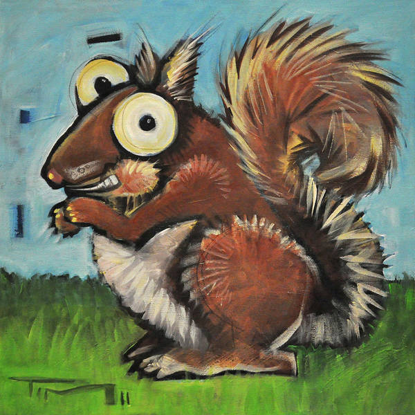 Painting - Squirrel by Tim Nyberg