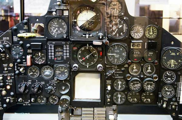 Reconnaissance Photograph - Sr-71 Blackbird Control Panel. by Mark Williamson