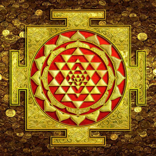 Sacred Mixed Media - Sri Lakshmi Yantra by Lila Shravani