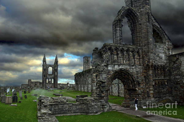 St Andrews Photograph - St Andrews Cathedral And Gravestones by RicardMN Photography