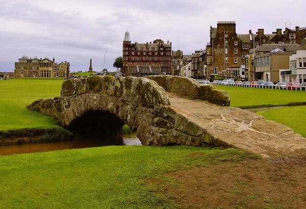 Linked Photograph - St. Andrews Links Golf Course Swilcan Bridge 18th Hole by Rich Image