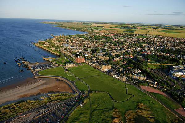 Golf Course Photograph - St Andrews Old Course Aerial by Dom Furore