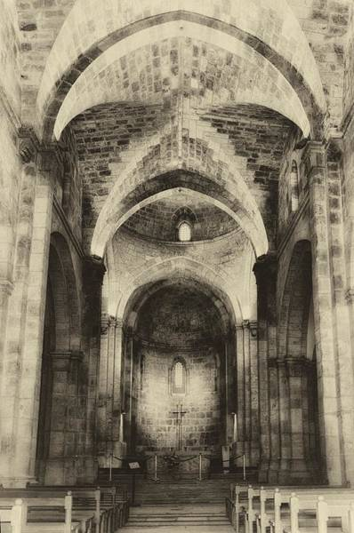 Photograph - St. Anne's Church Jerusalem Antiqued by Mark Fuller