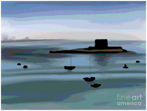 Painting - St Aubin's Fort Jersey by Barefoot Bodeez Art