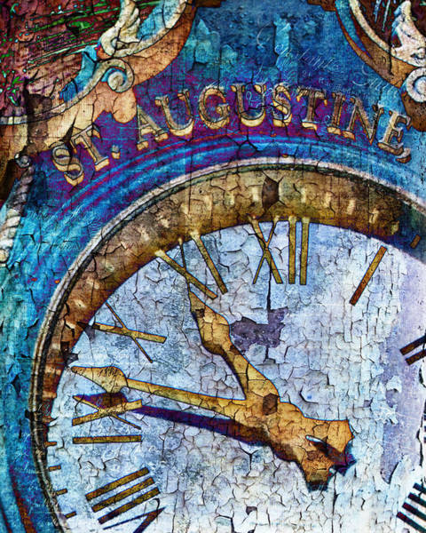 Flagler Photograph - St Augustine Clock by Evie Carrier