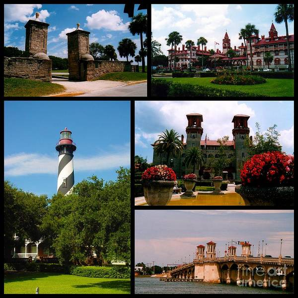 Photograph - St Augustine In Florida - 2 Collage by Susanne Van Hulst