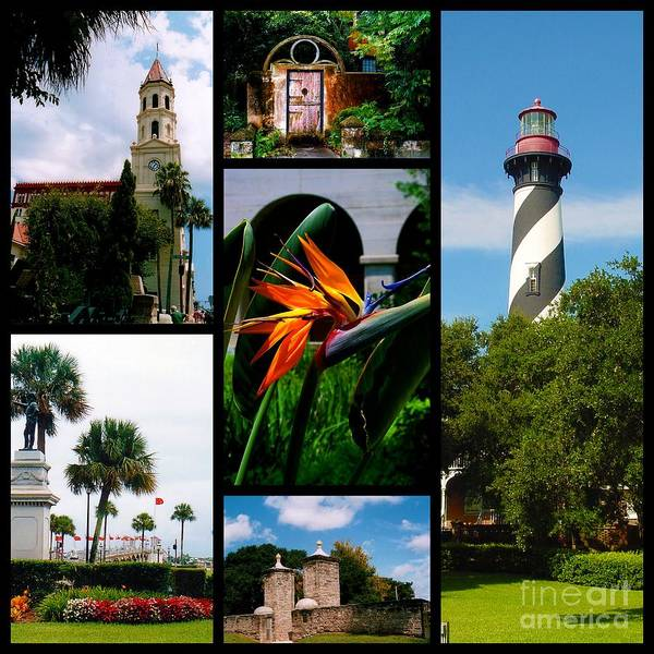 Photograph - St Augustine In Florida - 3 Collage by Susanne Van Hulst
