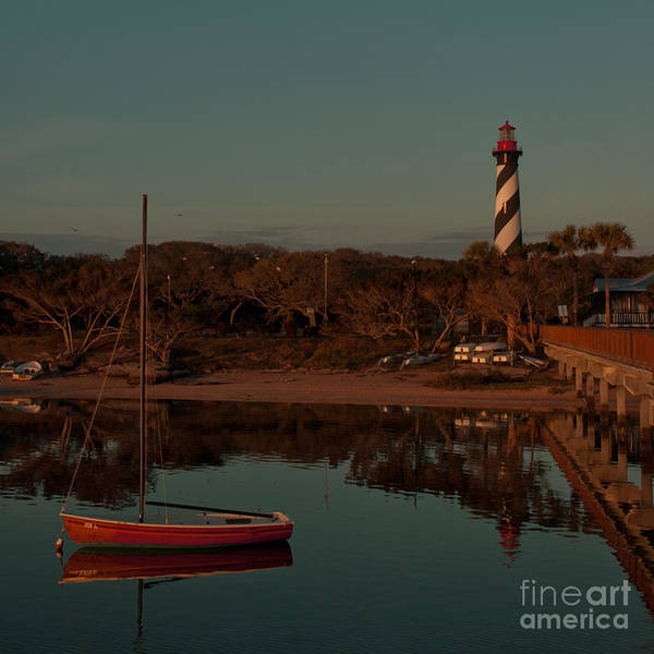 Photograph - St. Augustine Lighthouse Beach Early Morning Color by Kathi Shotwell