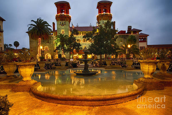 Wall Art - Photograph - St Augustine Town Hall At Night by George Oze