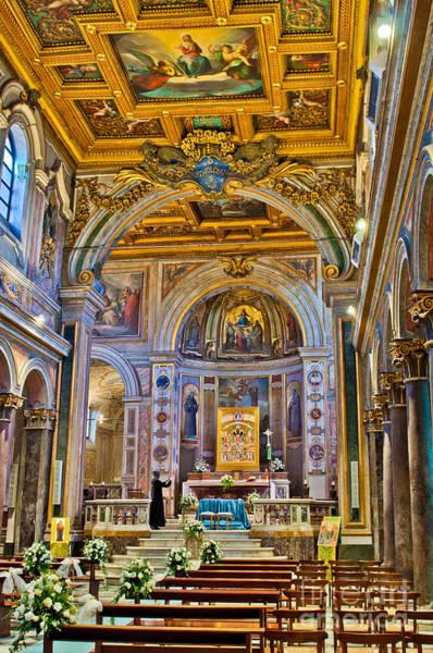Tiber Island Wall Art - Photograph - St. Bartholomew On The Island Basilica Interior by Luis Alvarenga