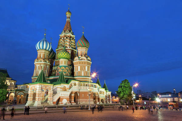 St Martin Photograph - St Basils Cathedral In Red Square by Martin Child