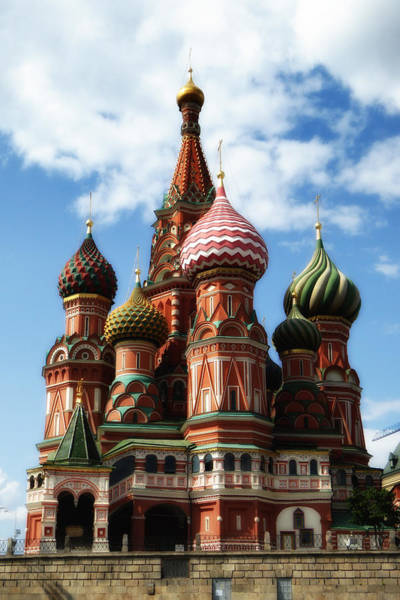 Cathedral Of Christ The Savior Photograph - St. Basil's Cathedral by Linda Dunn