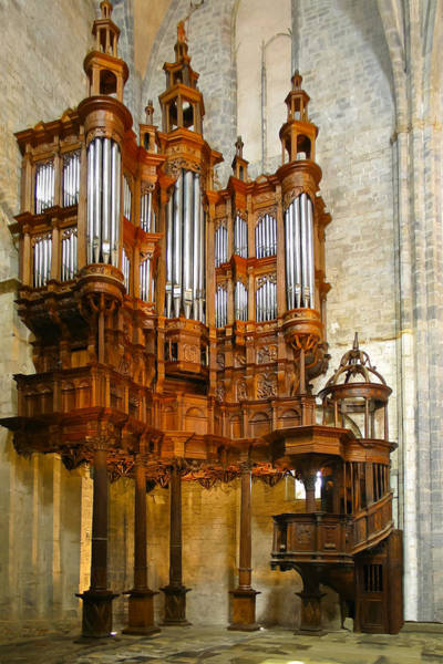 Photograph - St Bertrand De Comminges Organ by Jenny Setchell