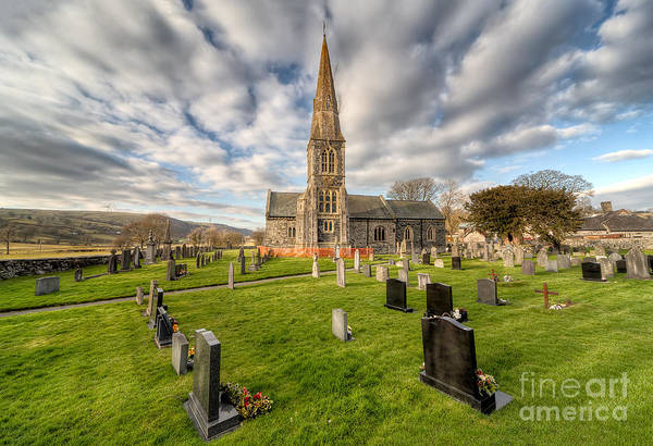 Grave Yard Photograph - St Beuno Church by Adrian Evans