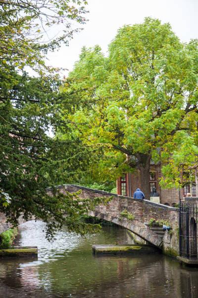 Wall Art - Photograph - St. Bonifacius Bridge In Bruges by W Chris Fooshee