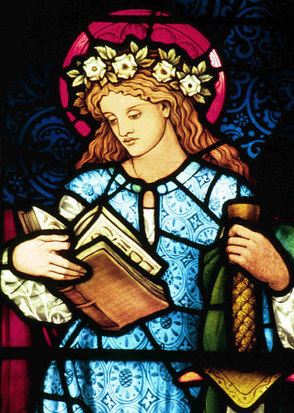 Wall Art - Photograph - St Catherine Of Alexandria In Stained Glass by Philip Ralley