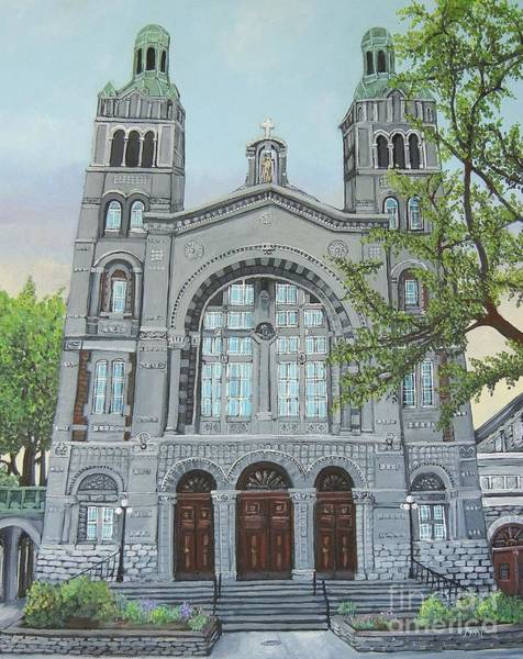 Pointe St Charles Painting - St. Charles Church Pointe St. Charles by Reb Frost