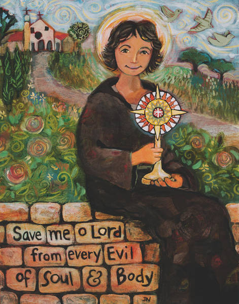 Francis Painting - St. Clare Of Assisi by Jen Norton