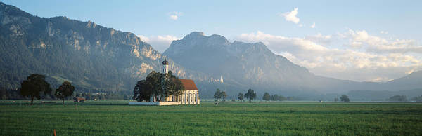 Alpine Meadows Photograph - St Colomans Church, Bavaria, Germany by Panoramic Images
