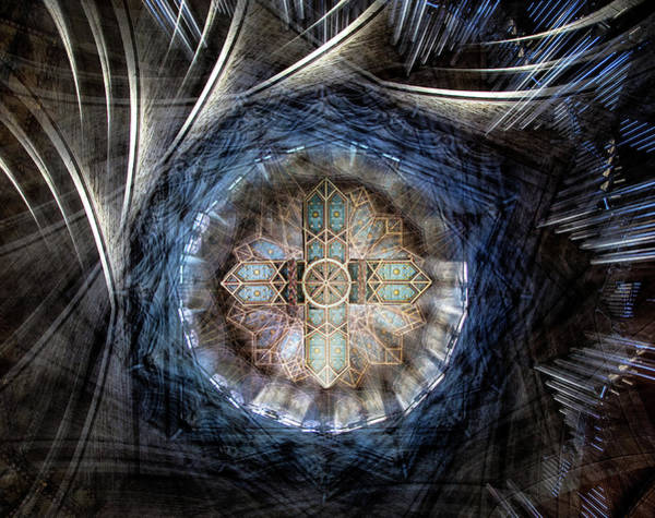 Ceiling Photograph - St Davids Cathedral Roof by Simon Pearce