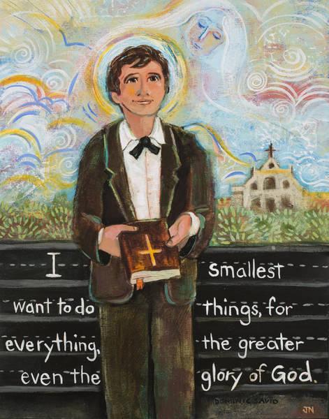 Wall Art - Painting - St Dominic Savio by Jen Norton