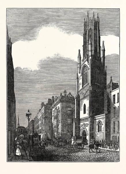 Wall Art - Drawing - St. Dunstans In The West, Fleet Street, London, Uk, Britain by English School