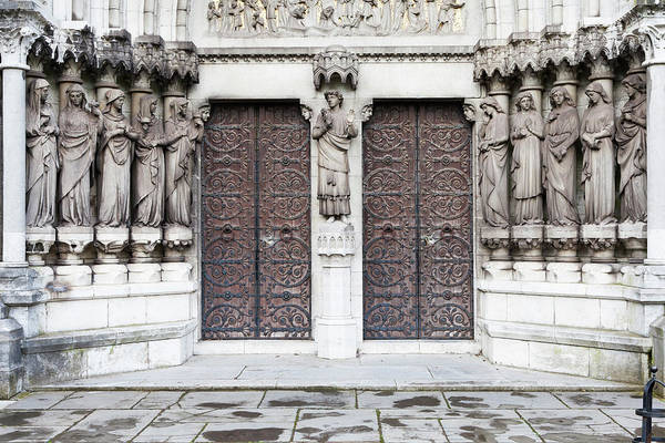 Door To Door Photograph - St. Fin Barres Cathedral Entrance by Lissart