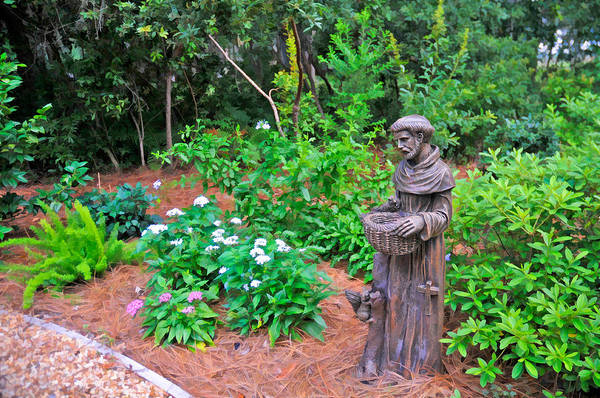 Photograph - St. Francis Garden Statute by Ginger Wakem