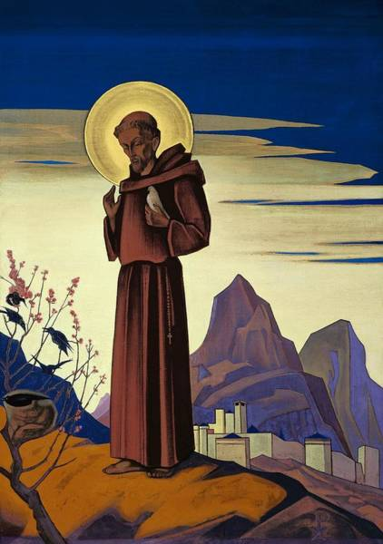 Nk Roerich Painting - St. Francis by Nicholas Roerich